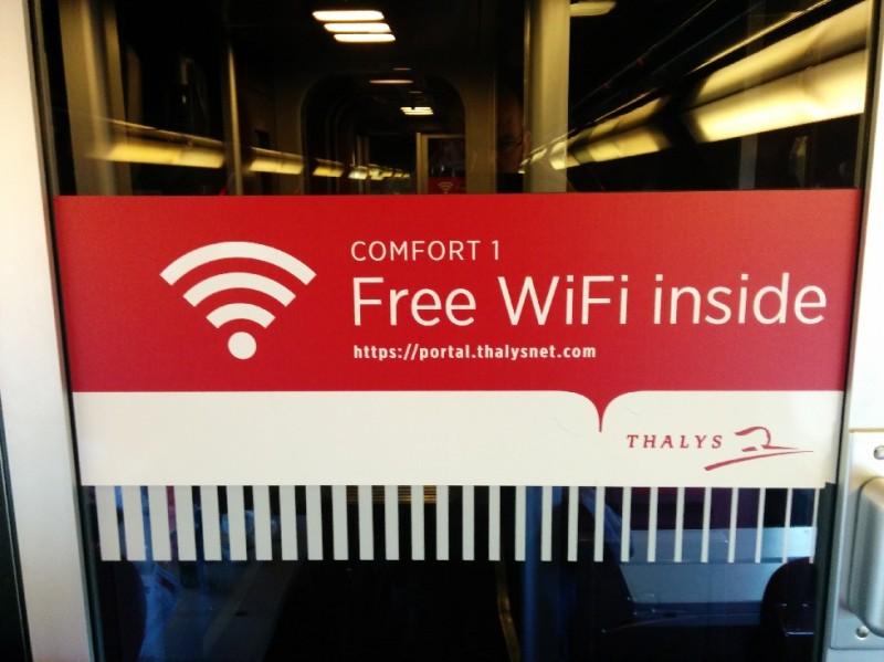 Kostenfreies, einwandfrei funktionierendes WLAN im Thalys von Köln bis Paris