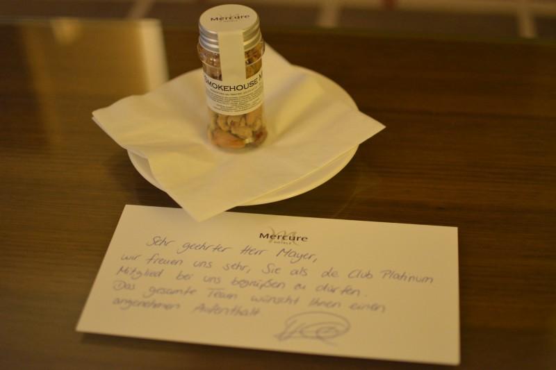 Begrüßungsgeschenk für Le Club Accormitglieder im Mercure Hotel Düsseldorf City Center