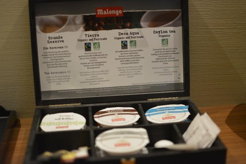 Kaffee Ausstattung in der Suite des Mercure Hotel Düsseldorf City Center