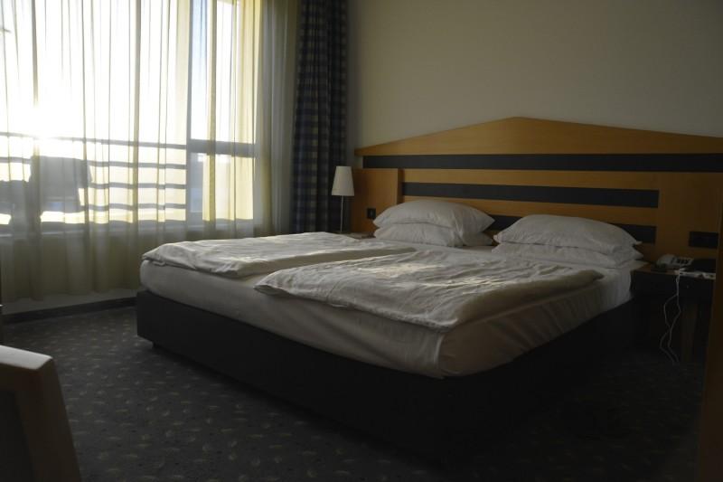Deutlich zu weich, das Bett im Hotel parka Plaza Pernzlauer Berg Berlin