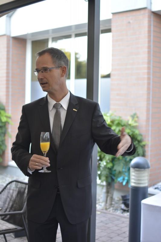 General Manager Hagen Müller vom Radisson Blu Karlsruhe bei unserer Begrüßung