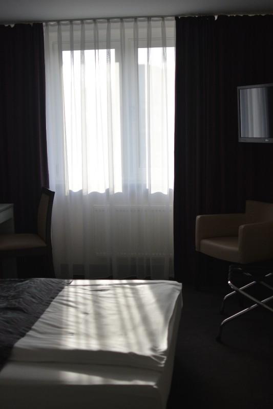 Der erste Blick ins Zimmer des Hotels Mercure Frankfurt Messe City