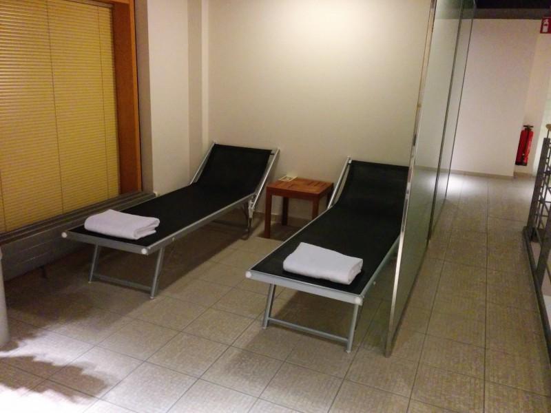 Ruhebereich im Wellnessbereich des Hotels Novotel Karlsruhe