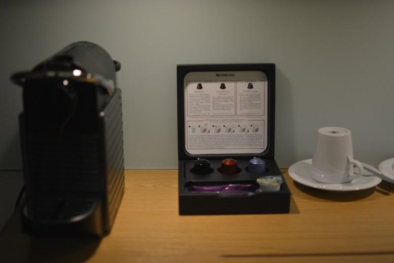 Nespressomaschine des Novotels Karlsruhe im Executive Zimmer