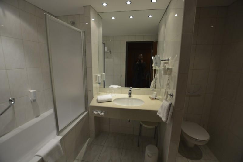 Bad in meinem Zimmer im Hotel Werzer's