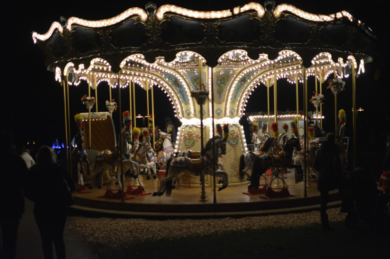 Karussel auf dem Veldener Advent