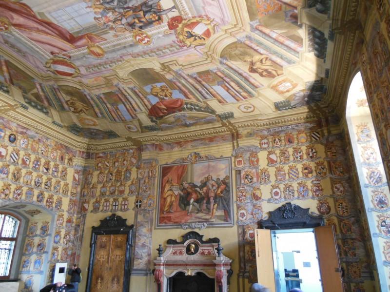 Bild aus dem Großen Wappensaal im Landhaus Klagenfurt