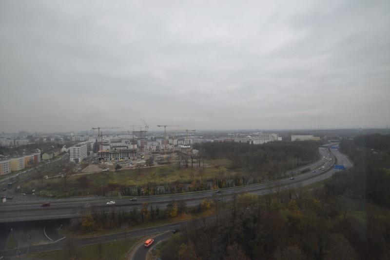 Ausblick aus dem 12. Stock im Radisson Blu Frankfurt