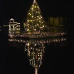 Weihnachtsbaum im Hafen von Pörtschach