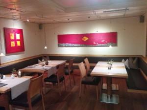 Das Restaurant des Hotels Germania in Bregenz
