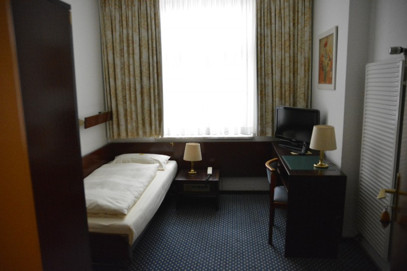 Der erste Blick in mein Zimmer im Hotel am Chlodwigplatz Köln