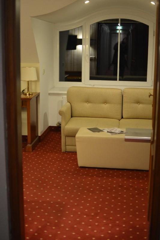 Erster Blick in mein Zimmer des Hotels am Mirabellplatz Salzburg