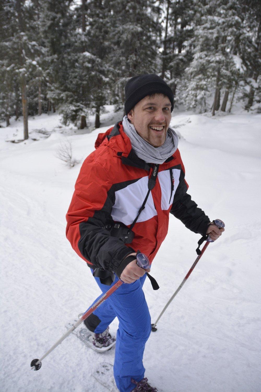 Hergen von Cewe am nächsten Tag bei unserer Schneeschuhwanderung