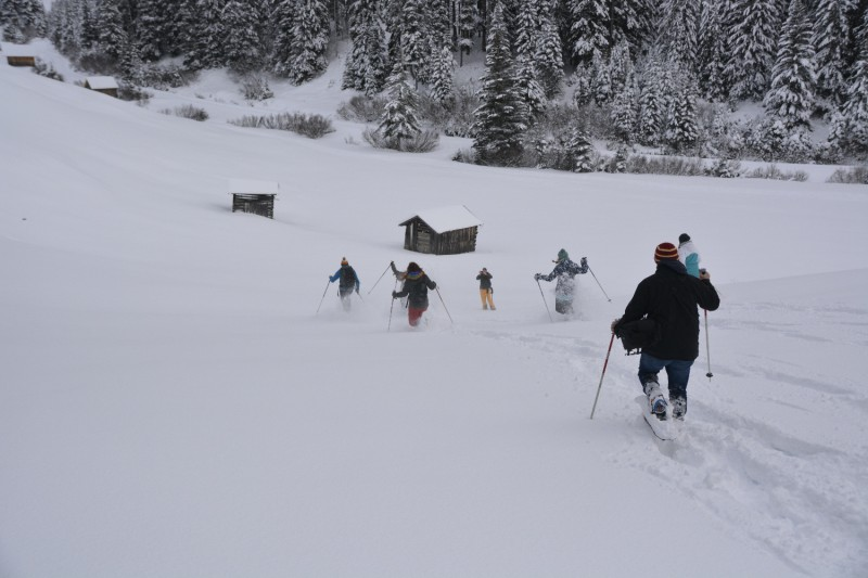 Schneeschuhrennen im Naturpark Kaunergrat beim Cewe Fotoworkshop