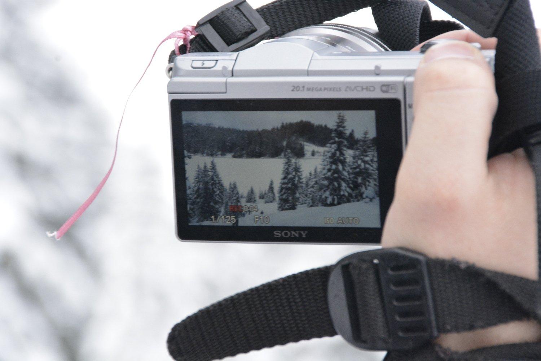 Moritz von den Gipfelträumern beim Dreh seines Videos