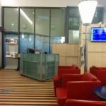 Blick Richtung Eingang und Empfang der DB Bahn Lounge Bremen