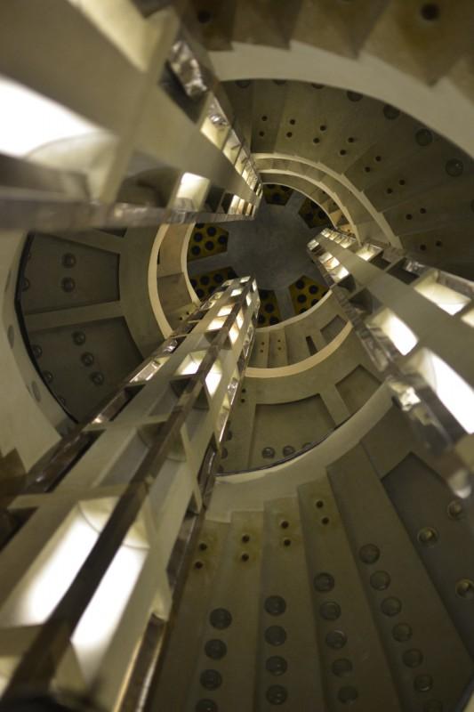 Art Deco Treppe im Atlantishaus (Entwurf: Bernhard Hoetger) im Radisson Blu Bremen