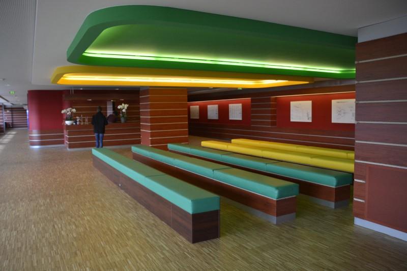 Blick in den Eingangsbereich des Besucherzentrums