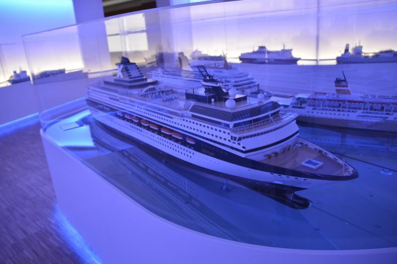 Eines der Modelle der Schiffe, die in der Meyer-Werft gebaut wurden