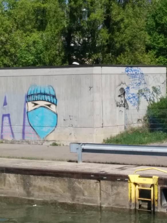 Streetart an der Cannstatter Schleuse