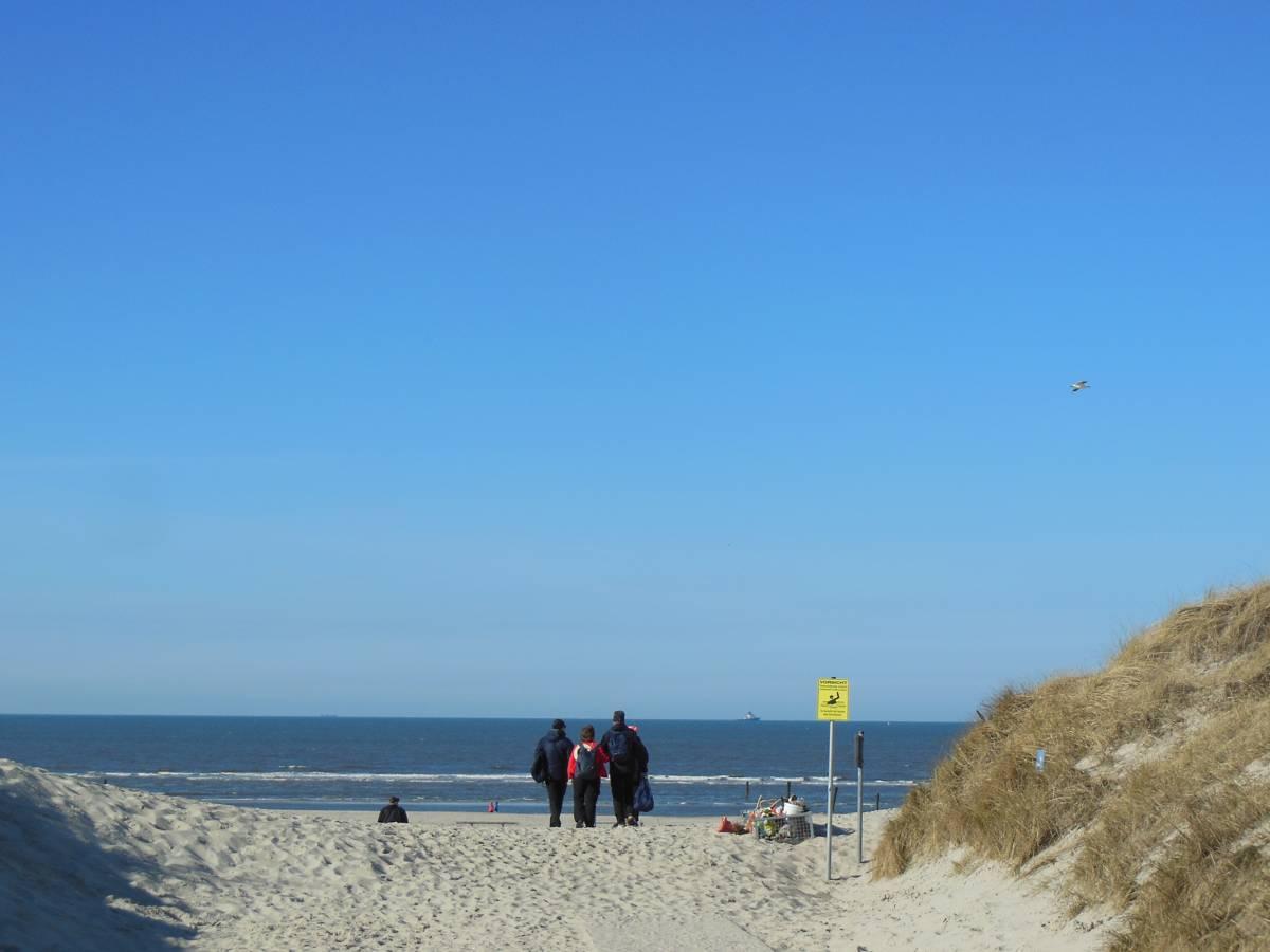 Hier geht's zum Strand an der Weissen Düne auf Norderney