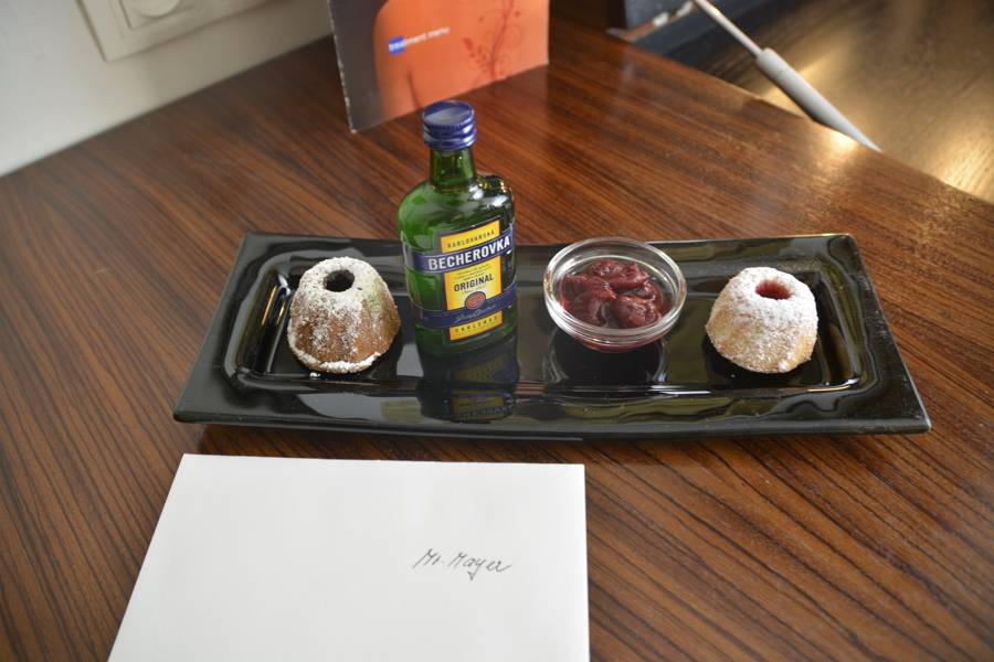 Ein netter Gruß zum Auftakt eines schönen Wochenendes im Prager Radisson Blu Alcron Hotel