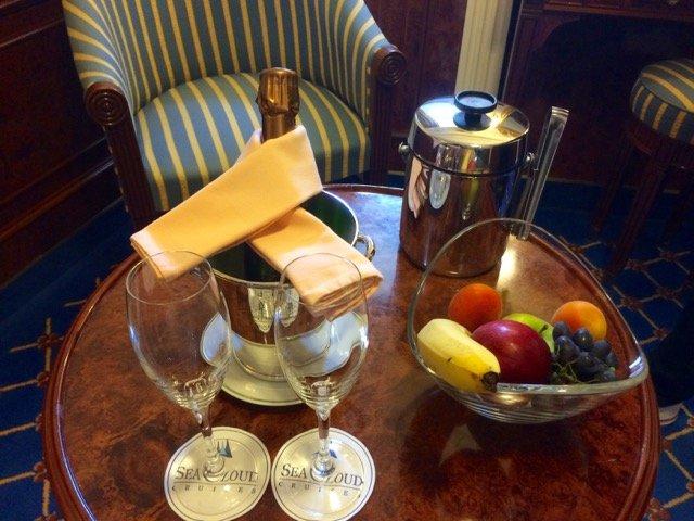 Champagner-Begrüßung