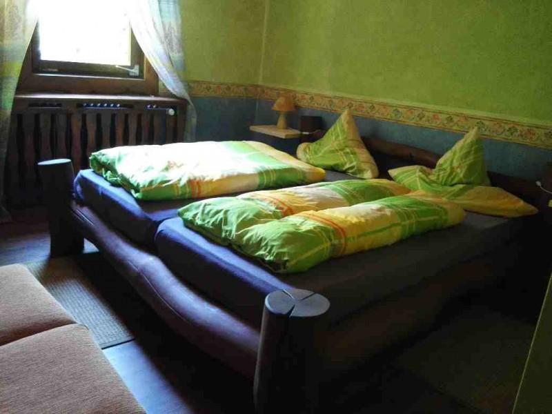 Bett in der Schmausemühle
