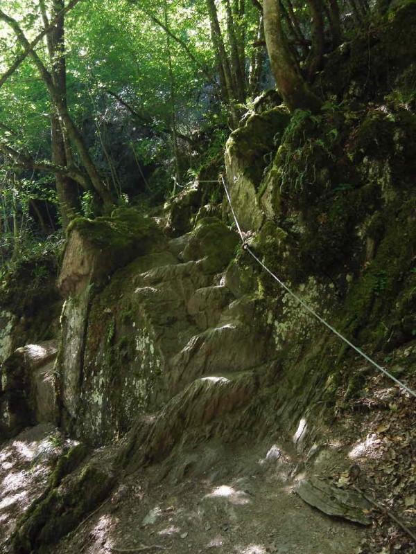 Gesicherter Abstieg im Baybachtal