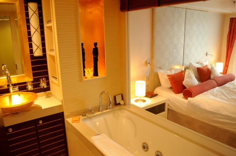 Das Bad einer Spa-Suite