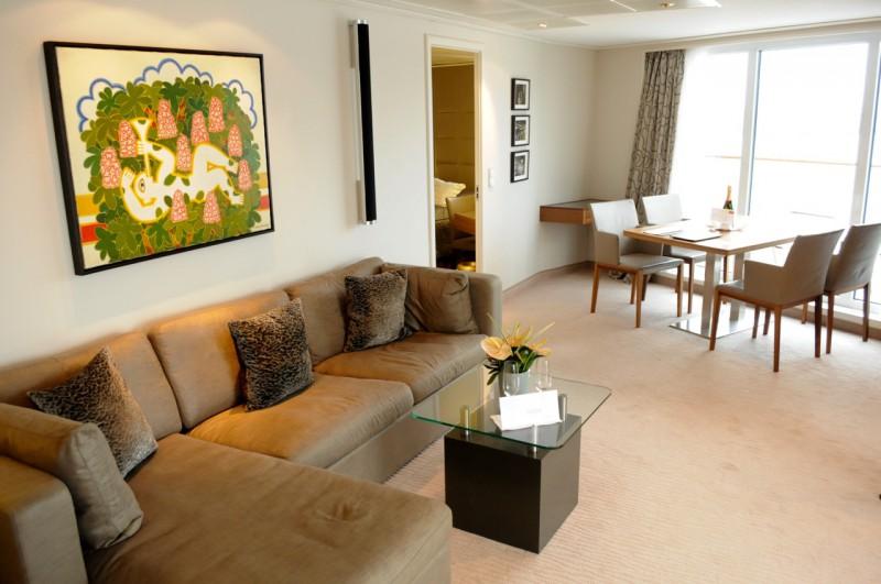 Der Wohnbereich in der Hapaq-Suite