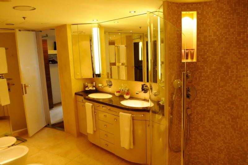 Das Badezimmer der Hapaq-Suite