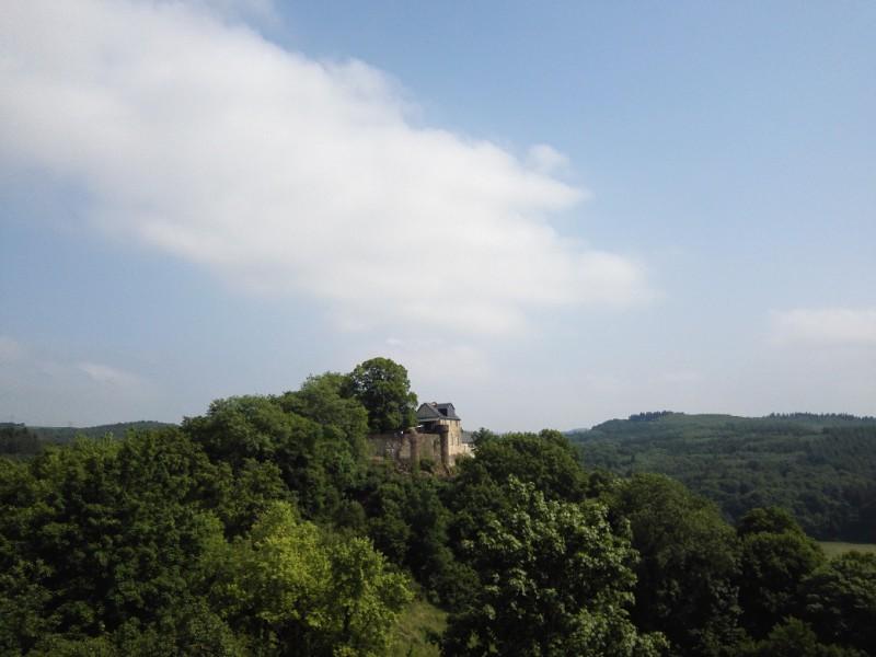 Blick zum Schloss Schöneck