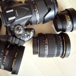 Meine derzeitige Kameraausrüstung: Nikon D5200 und einen Sack voll Objektive