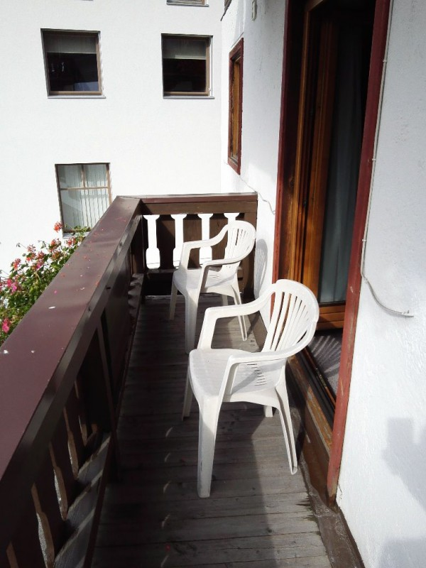 Balkon in der Pension Lachmayr Kaprun