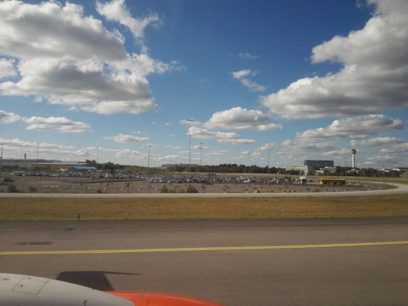 Ankunft am Flughafen Stockholm