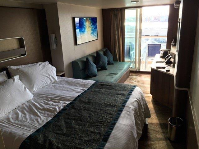 Eine Balkonkabine auf Deck 8