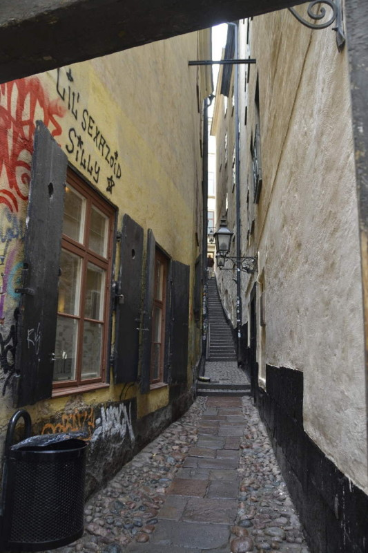 Gasse in Gamla Stan Stockholm