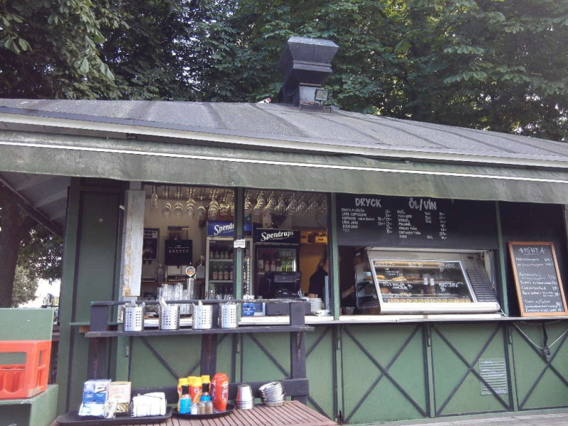 Das Cafe im Pavillion im Tessinparken Stockholm