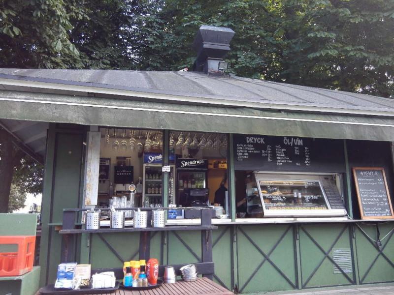 Das Cafe im Pavillion im Tessinparken Stockholm