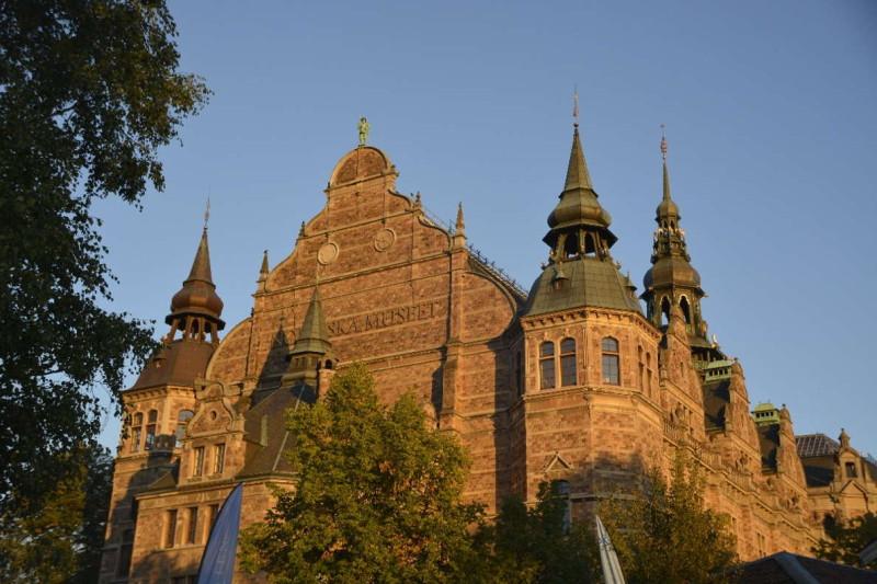 Das Nordische Museum auf Djurgården Stockholm aus der Nähe