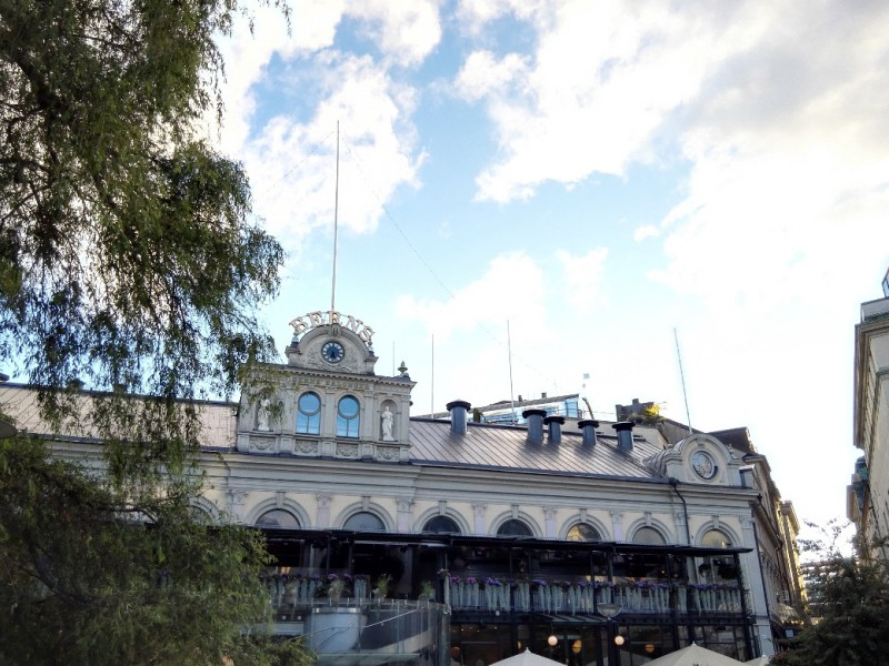 Das erste vieler schöner Häuser in Stockholm...