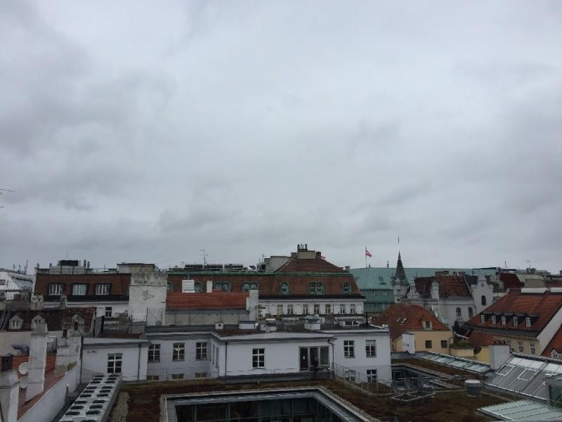 Unspannender Blick aus dem Fenster - aber ich hatte schon schlimmere Anblicke als den hier im Steigenberger Wien;)