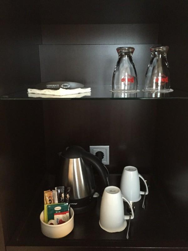 Wasserkocher und Tee gibt es auch