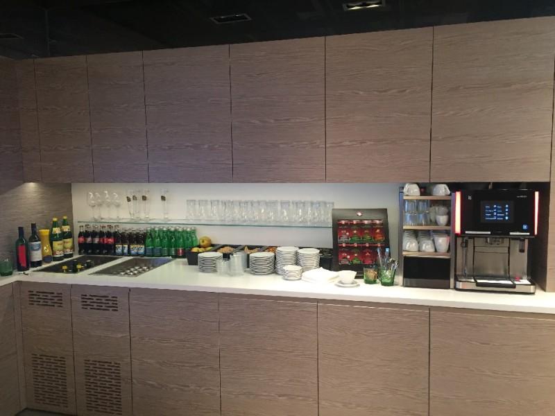 Gute Auswahl hier in der ÖBB Lounge im Wiener Hauptbahnhof