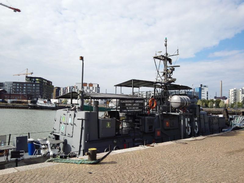Saunaschiff im Westhafen von Helsinki