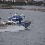 Und auch die Polizei ist in Helsinki auf dem Wasser unterwegs