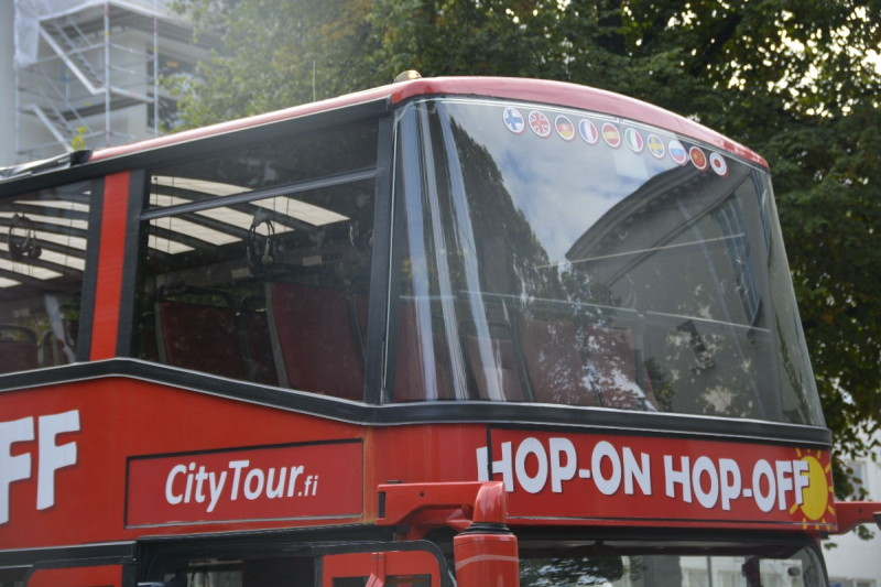 Red Bus zur Hopp on, hopp off Tour