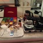 Kaffee und Tee zum Frühstück im Hotel Anna Helsinki