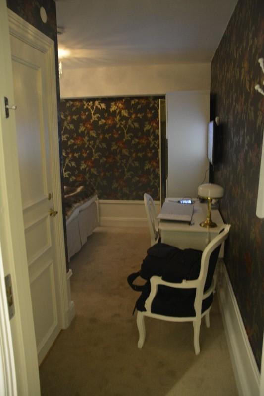 Der erste Blick ins Zimmer im Browallshof Hotell